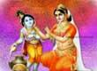 Bal Krishna with Yashoda Maa