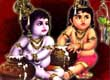 Bal Krishna with Balram Makhan